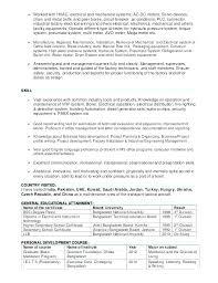 Diploma Resume Format Mechanical Engineering Resume Chemical