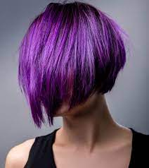 dark hair purple without bleaching