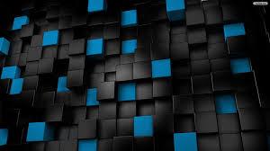 black 3d wallpaper 1920x1080. Contemporary Black Free Black Blue Cube 3D Wallpaper Inside 3d 1920x1080 D