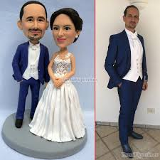 Polymer Clay Doll Custom Wedding Cake Topper Made From Your Photos