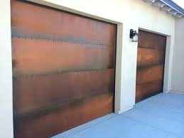 paint metal garage door to look like wood rust garage door how paint metal doors look