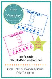 Free Printable Potty Training Chart Punch Card Reward Card Helps