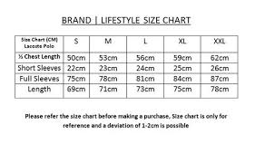Lacoste Size Chart Jacket Lacoste L12 12 2 Pique Polo Pack
