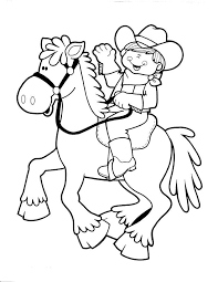 Cowboy And Cowgirl Coloring Pages Cowboy Coloring Pages To Inspire