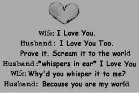 Husband Wife Love Quotes Interesting Wife I Love You LOVE QUOTES