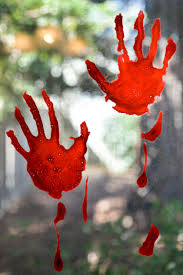 Tape the bag down on your table so that it doesn't move. Bloody Handprint Window Clings Hey Let S Make Stuff