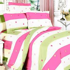 Pink Green Polka Dot Striped Teen Girl Bedding Twin Full Queen King