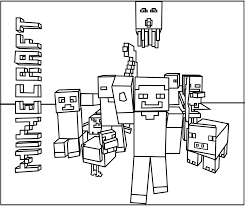 Small Picture Printable Minecraft Mobs coloring pages Coloring Kids