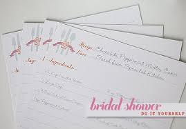 Recipe Paper Template Bridal Shower Recipe Cards Template