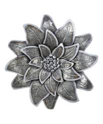 spiky galvanized metal flower wall décor