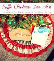Ruffle Christmas Tree Skirt Tutorial - The Ribbon Retreat Blog