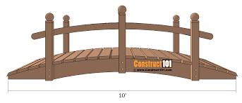 arched garden bridge plans front view