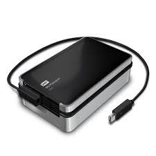 WD My Passport Pro 4TB Thunderbolt Portable Hard Drive WDBRNB0040DBKPESN