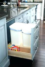 Under cabinet garbage can Pull Out Under Counter Garbage Can Kitchen Cabinet With Trash Bin Under Counter Garbage Can Countertop Garbage Disposal Epixtraderco Under Counter Garbage Can Kitchen Cabinet With Trash Bin Under