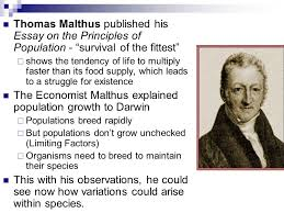 developing the theory of evolution evolution is the core theme of  23 thomas malthus published his essay