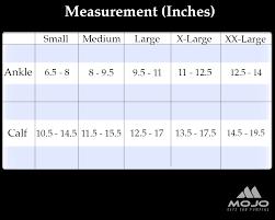 Calf Size Chart Mojo Compression Size Charts