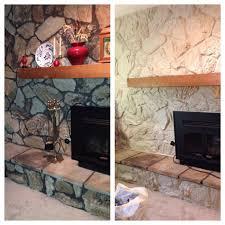 70s brick fireplace makeover