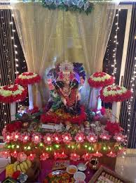 ganpati decoration ideas at home ganesh pooja decoration bellisima