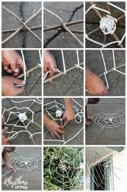 giant spider web outdoor decoration diy photo tutorial