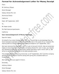 Acknowledgement Of Letter Received Format For Acknowledgement Letter For Money Receipt Free