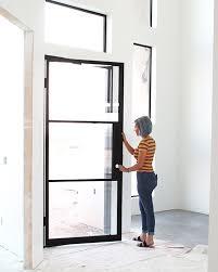 glass garage front door
