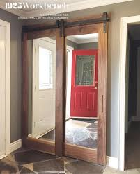 single closet doors. Walnut Framed Mirrors Doors In Our Single Track Bypassing Hardware For Entry Closet. Closet O