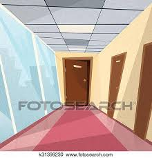 office hallway. Clipart - Office Room Doors Corridor Hallway. Fotosearch Search Clip Art,  Illustration Murals Office Hallway