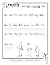 Alphabet Handwriting Practice Worksheets Tracing For En Kindergarten ...