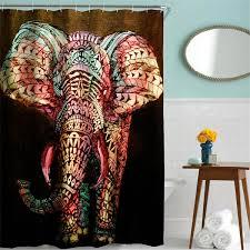 180x180cm polyester elephant shower curtain hooks set shower panel for measurements 1200 x 1200