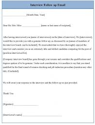 Sample Email After Interview Follow Up Status Ideas Of For