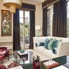 office drapes. Traditional Home Office With French Doors And Brown Drapes