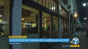 man sets off explosive at cheesecake factory in pasadena no injuries