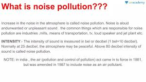 Write a short note on noise pollution