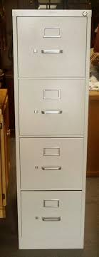 chic vertical fireproof file cabinet in gray with four drawers and silver handle for home office cheap office drawers