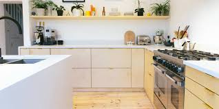 beautiful plywood doors and worktops for ikea kitchens