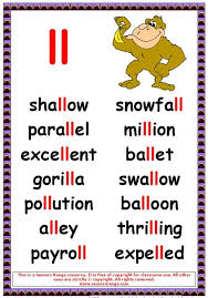Get all these free phonics worksheets to help students become more comfortable with reading. Ll Words 3 Phonics Posters Phonics Words English Phonics