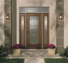 image of stylish fiberglass exterior doors