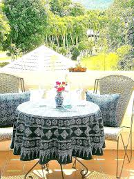 round outdoor tablecloths fitted tablecloth with umbrella hole best beautiful inside