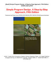 Simple Program Design A Step By Step Approach Fifth Edition Best Simple Program Design A Step By Step Approach Fifth
