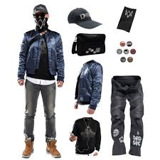 Details About Watch Dogs 2 Marcus Holloway S Jacket Coat Sweatshirt Jeans Cap Mask Bag