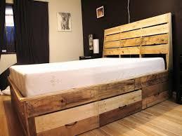 reclaimed wood king platform bed. Image Of: Reclaimed Wood Bed Frame Drawers King Platform O