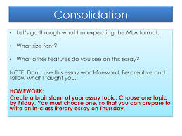 Minds On What Do I Mean By Mla Format Ppt Download