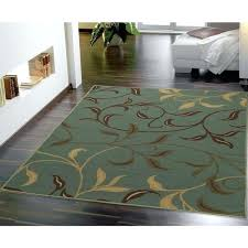 latex backed rugs on hardwood floors contemporary leaves design modern sage green collection aqua blue area