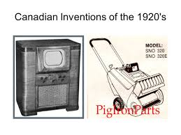 Canadian Inventions Of The 1920s Ppt Download