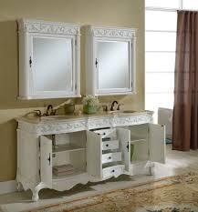 72 tuscany antique white double sink bathroom vanity