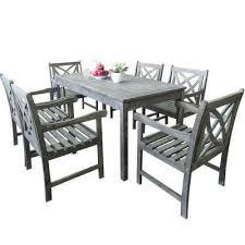 renaissance 7 piece rectangle patio dining set