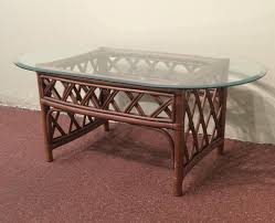 oval furniture coffee table glass top replacement stained varnished wooden hardwood minimalist furniture redwood