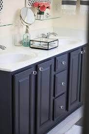 Gray' By Ben Moore My Painted Bathroom Vanity Before And After Classy Refinishing Bathroom Vanity