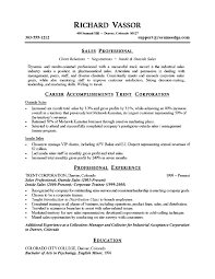 Professional Sales Resume Examples Sample Resume For Sales