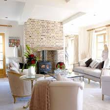 contemporary french furniture. Brick Fireplace Wall And Living Room Furniture In French Style Contemporary R